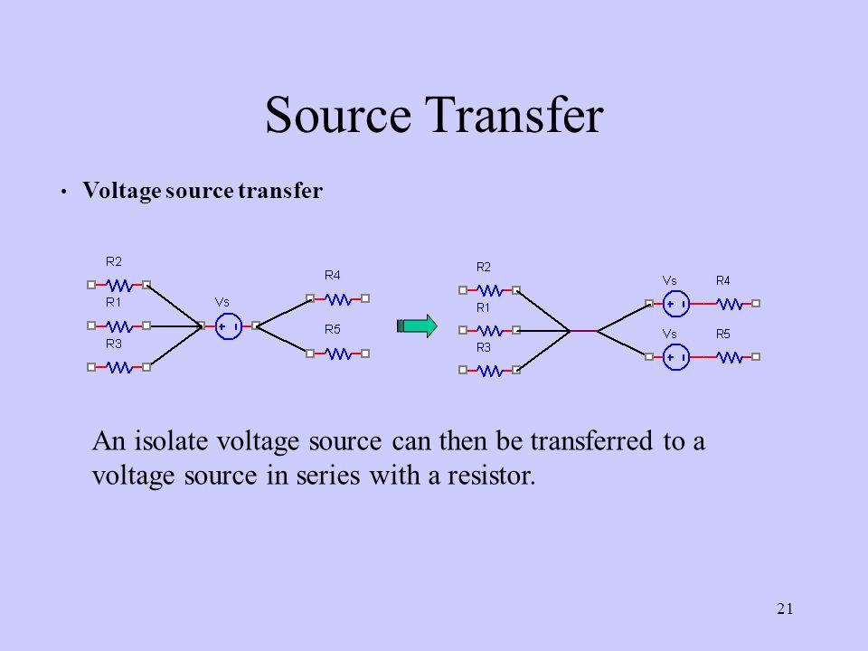 Source Transfer Voltage source transfer.