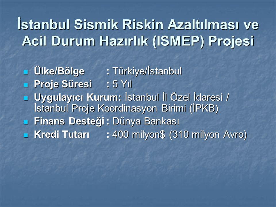 İstanbul Sismik Riskin Azaltılması ve Acil Durum Hazırlık (ISMEP) Projesi