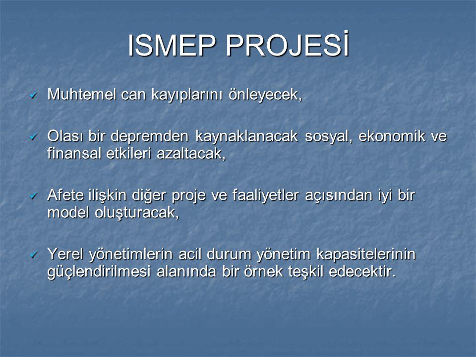 ISMEP PROJESİ Muhtemel can kayıplarını önleyecek,