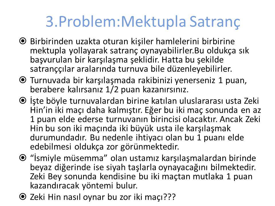 3.Problem:Mektupla Satranç