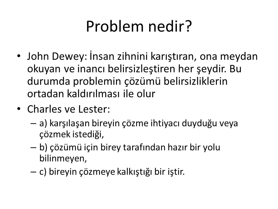 Problem nedir