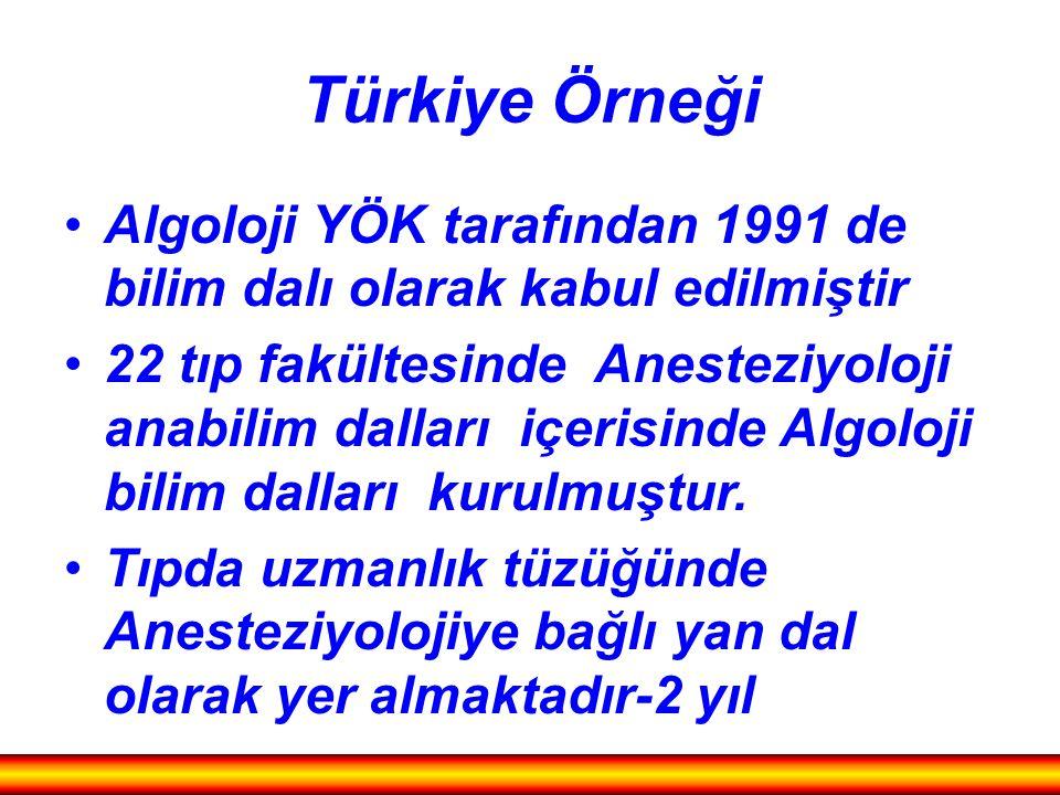 Türkiye Örneği Algoloji YÖK tarafından 1991 de bilim dalı olarak kabul edilmiştir.