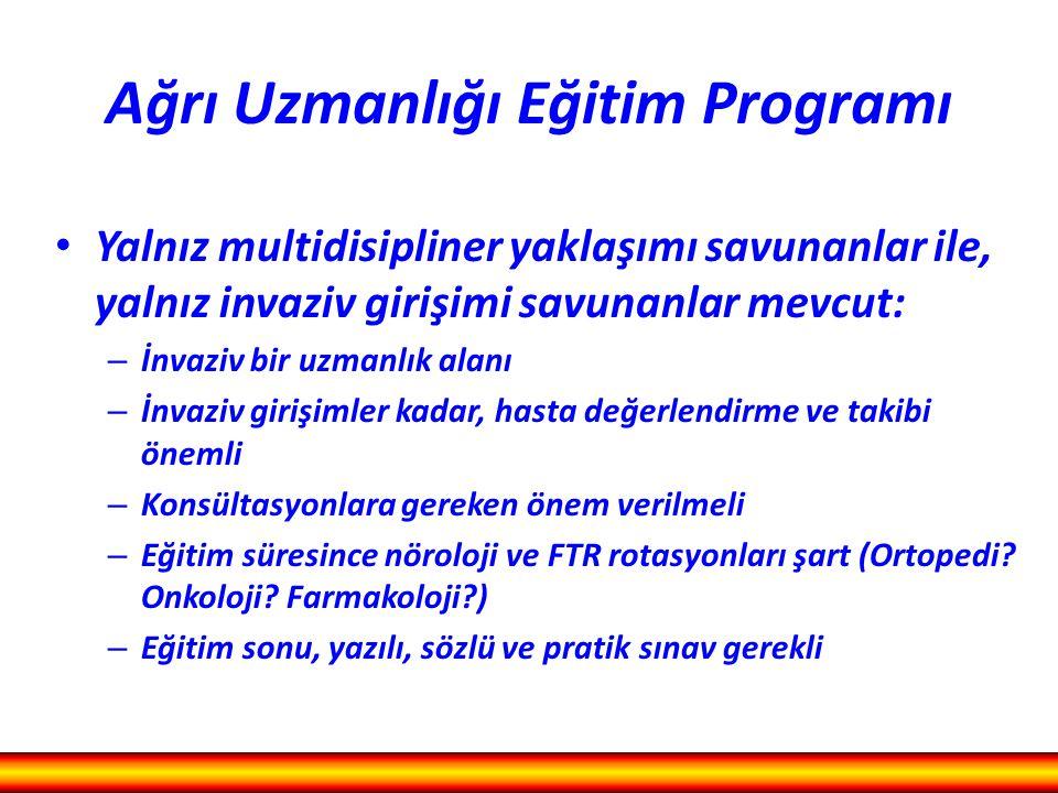 Ağrı Uzmanlığı Eğitim Programı