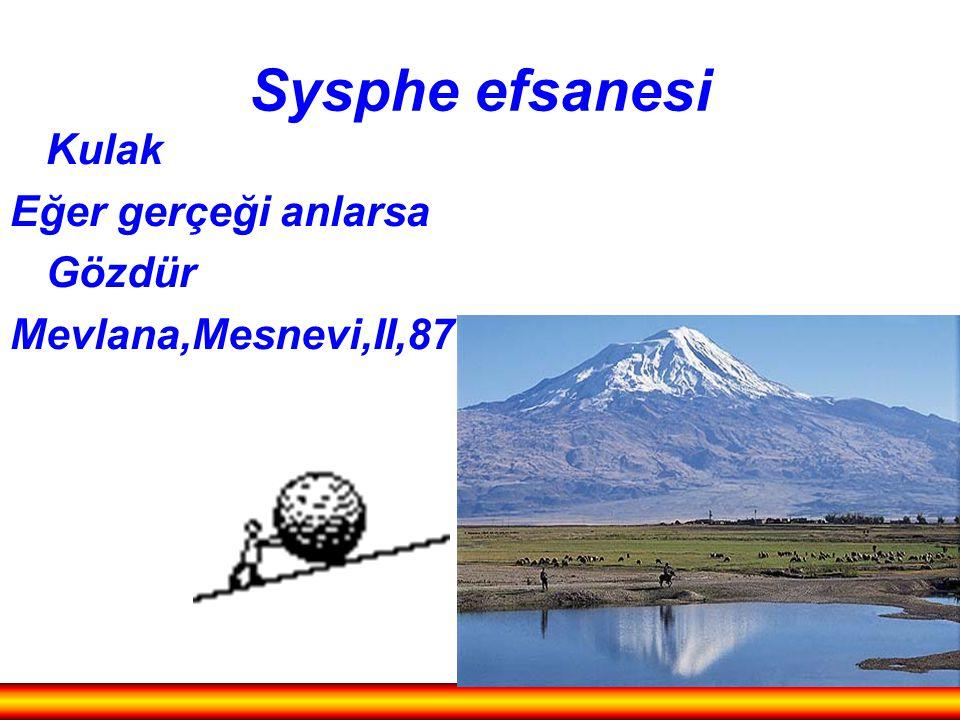 Sysphe efsanesi Kulak Eğer gerçeği anlarsa Gözdür