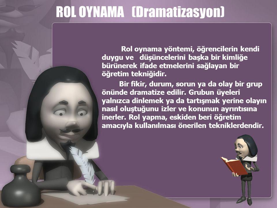 ROL OYNAMA (Dramatizasyon)