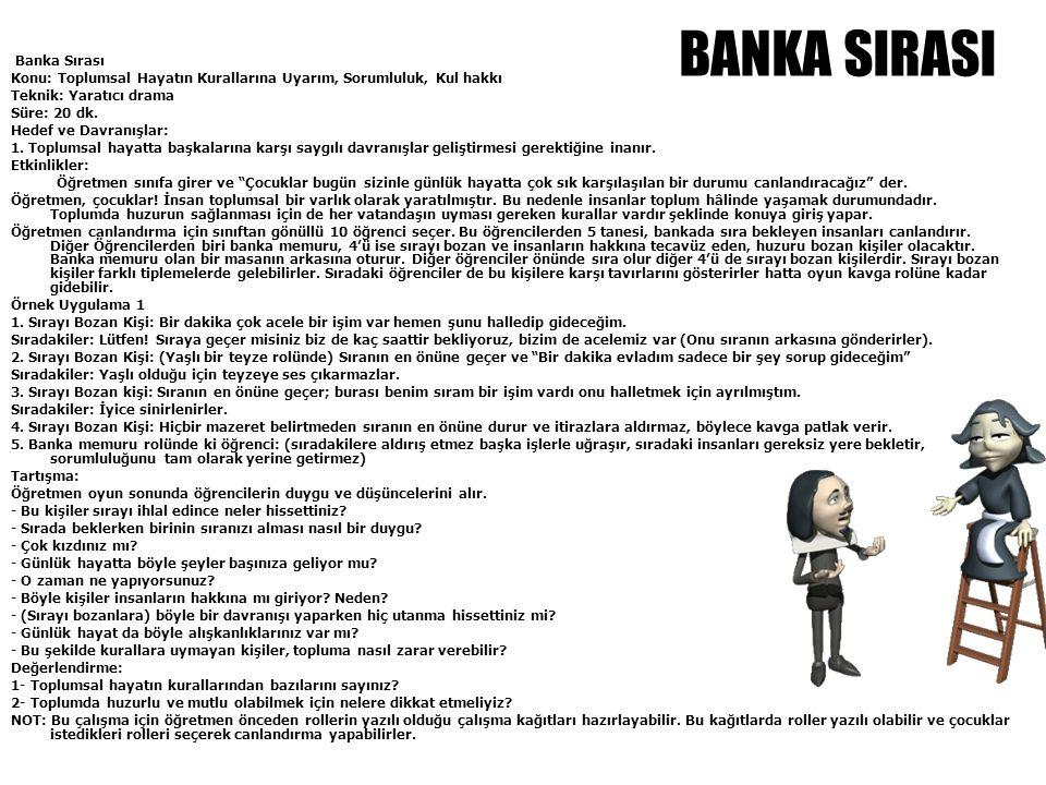 BANKA SIRASI Banka Sırası