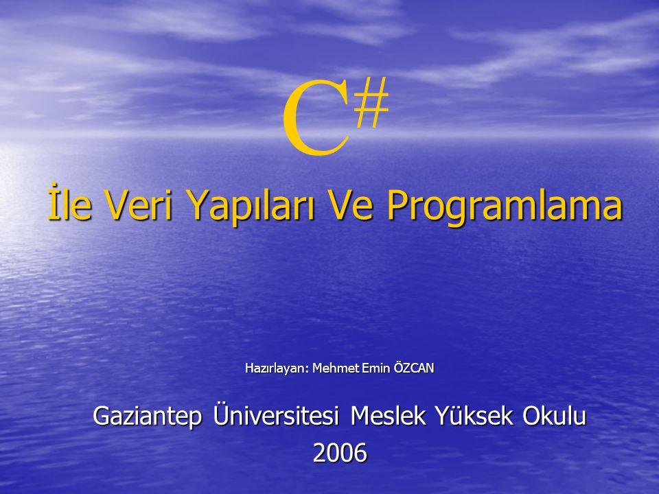 C# İle Veri Yapıları Ve Programlama