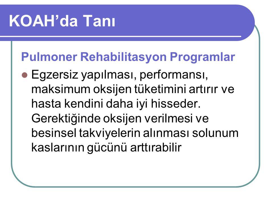 KOAH'da Tanı Pulmoner Rehabilitasyon Programlar