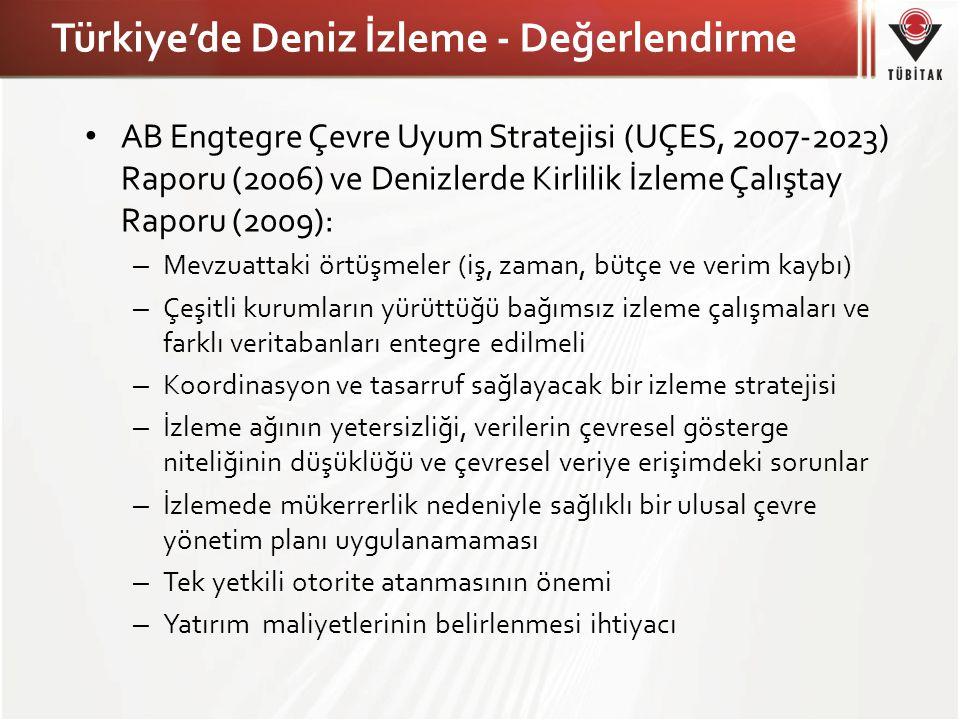 Türkiye'de Deniz İzleme - Değerlendirme