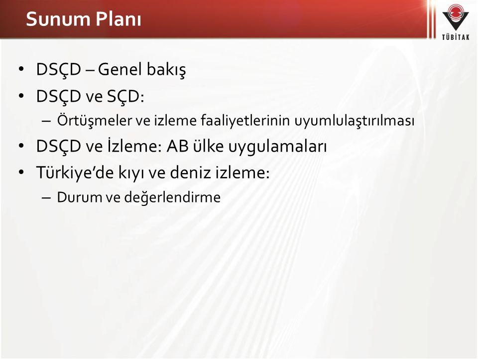 Sunum Planı DSÇD – Genel bakış DSÇD ve SÇD: