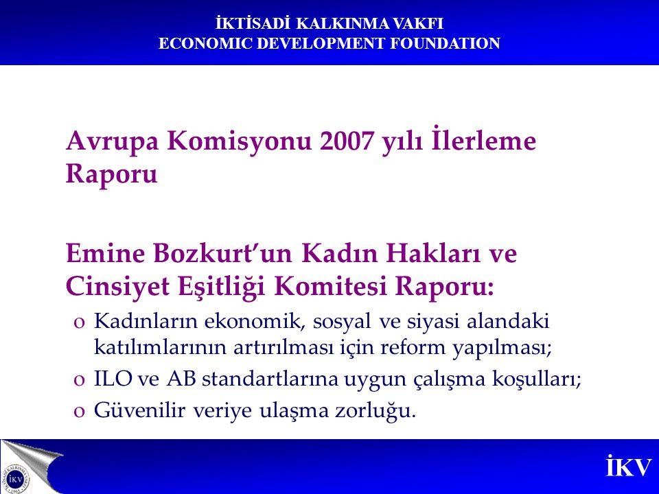 Avrupa Komisyonu 2007 yılı İlerleme Raporu