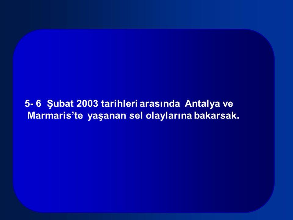 5- 6 Şubat 2003 tarihleri arasında Antalya ve