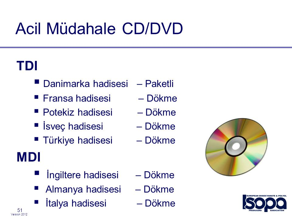 Acil Müdahale CD/DVD TDI MDI Danimarka hadisesi – Paketli