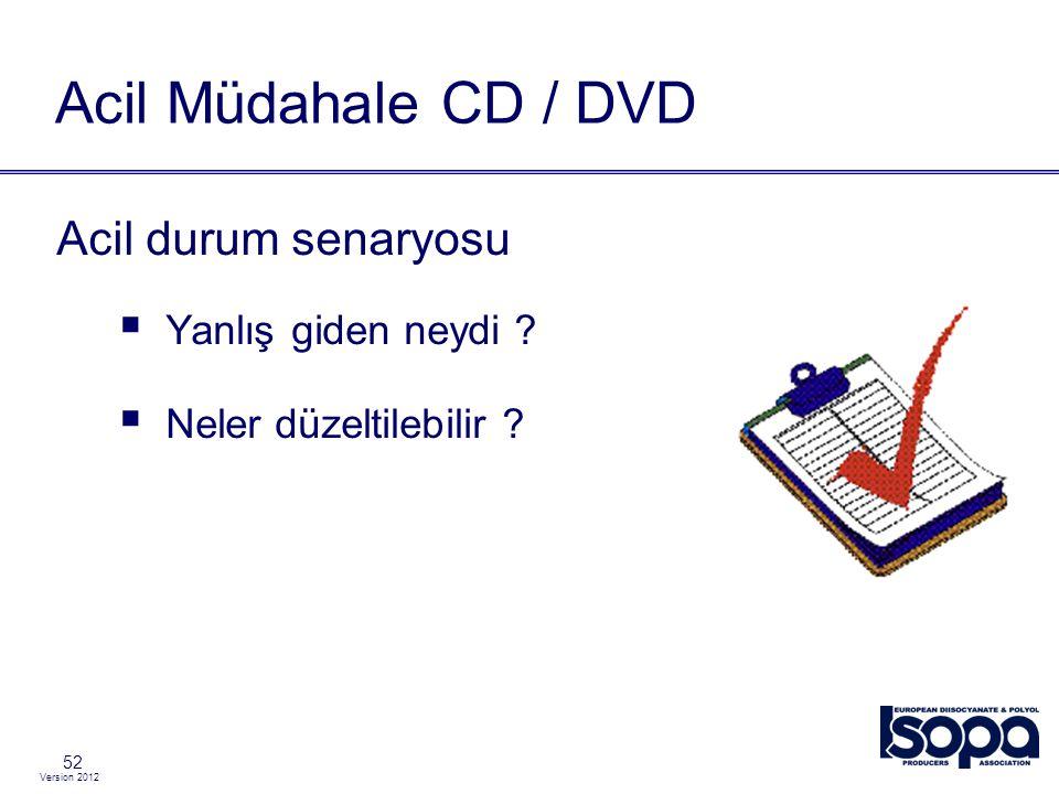 Acil Müdahale CD / DVD Acil durum senaryosu Yanlış giden neydi