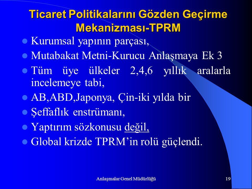 Ticaret Politikalarını Gözden Geçirme Mekanizması-TPRM