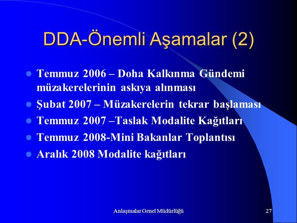 DDA-Önemli Aşamalar (2)