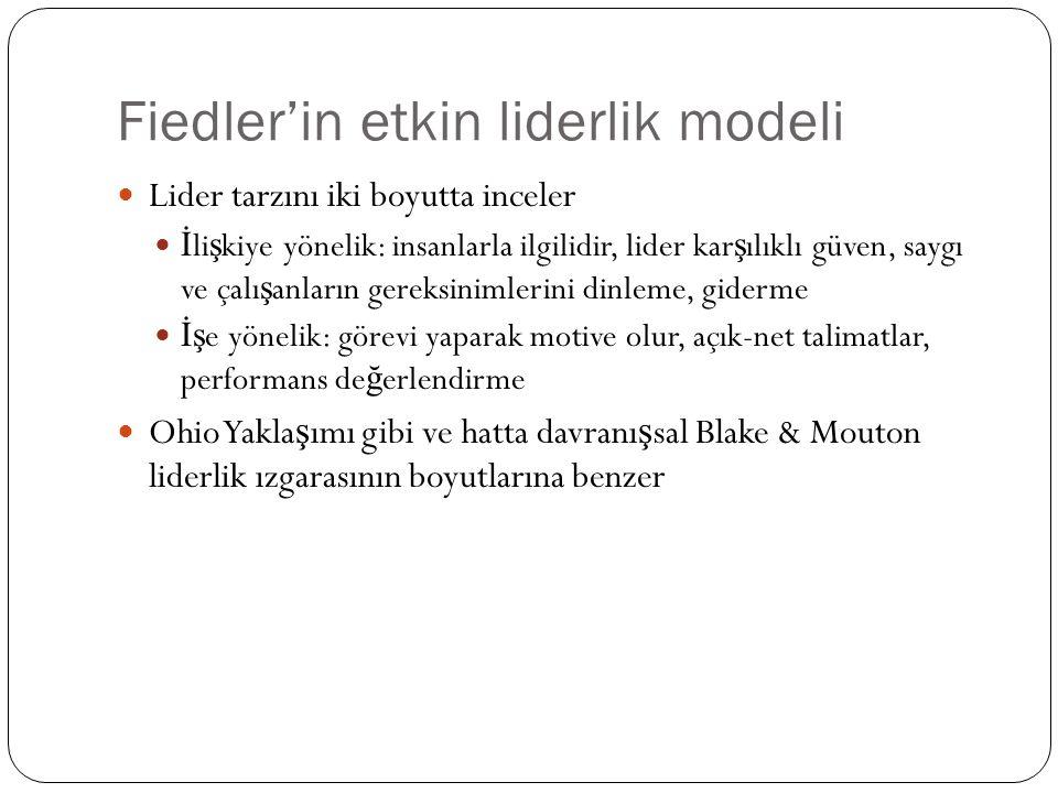 Fiedler'in etkin liderlik modeli