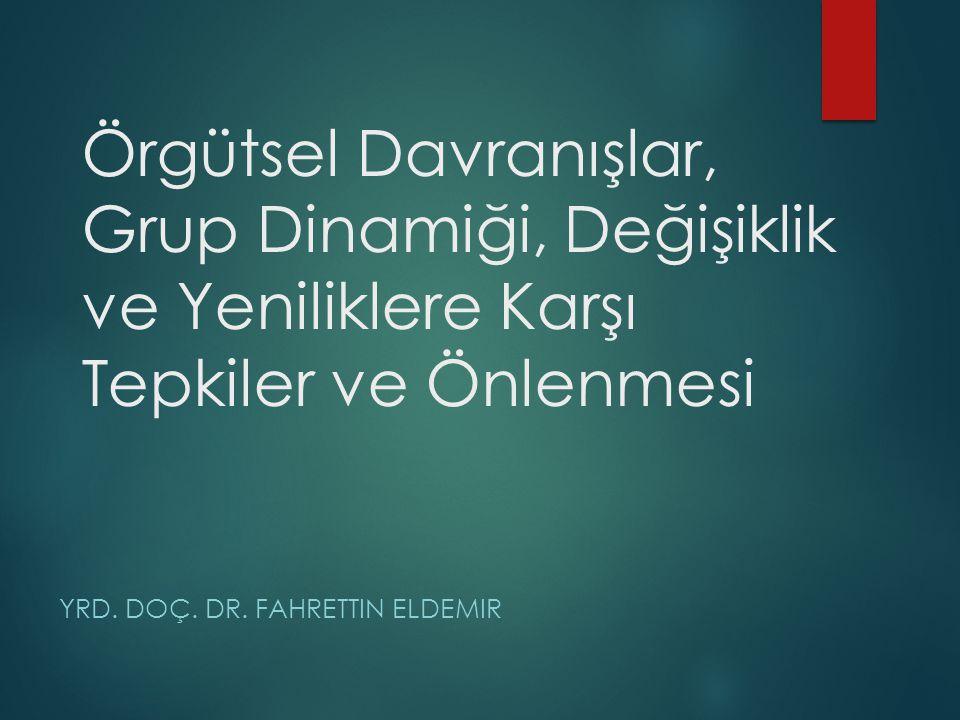 Yrd. Doç. Dr. Fahrettin Eldemir
