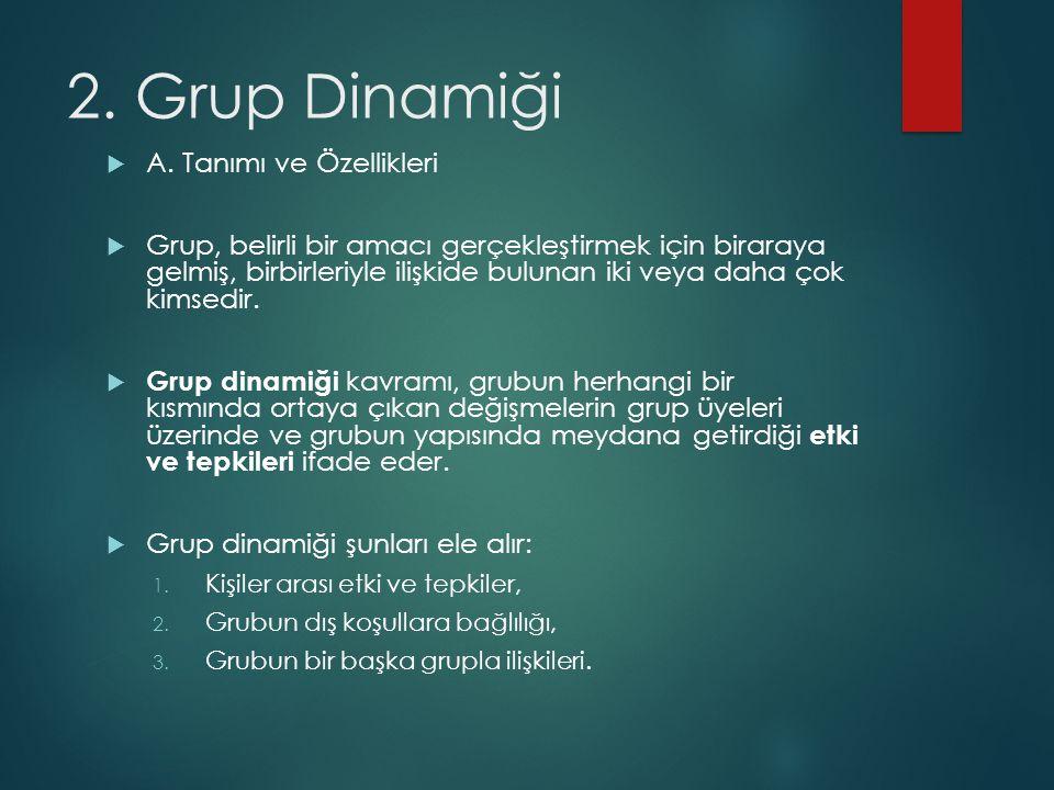 2. Grup Dinamiği A. Tanımı ve Özellikleri