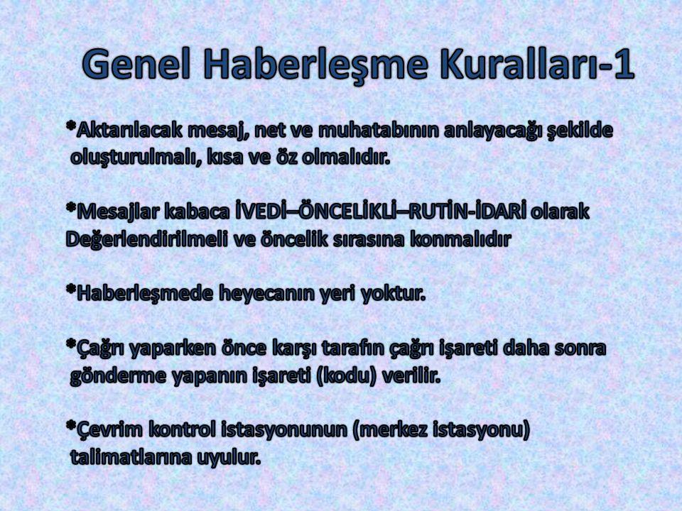Genel Haberleşme Kuralları-1