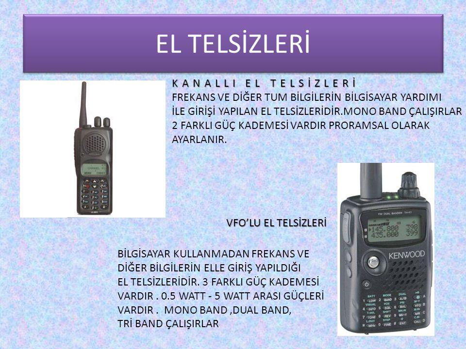 EL TELSİZLERİ KANALLI EL TELSİZLERİ