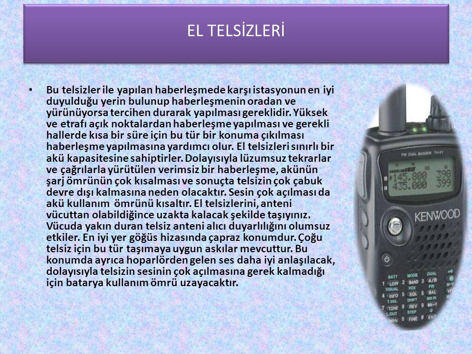 El Telsizleri EL TELSİZLERİ