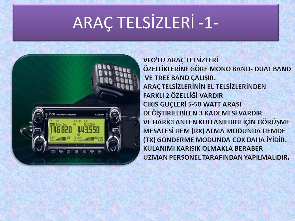 ARAÇ TELSİZLERİ -1- Araç Telsizleri -1- VFO'LU ARAÇ TELSİZLERİ