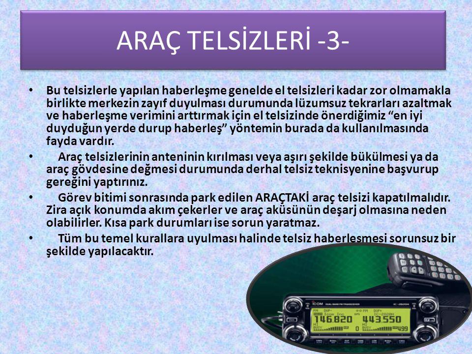 ARAÇ TELSİZLERİ -3- Araç Telsizleri