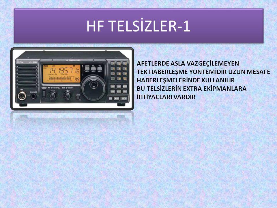 HF TELSİZLER-1 AFETLERDE ASLA VAZGEÇİLEMEYEN