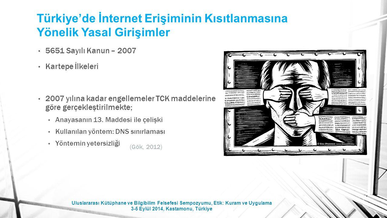 Türkiye'de İnternet Erişiminin Kısıtlanmasına Yönelik Yasal Girişimler