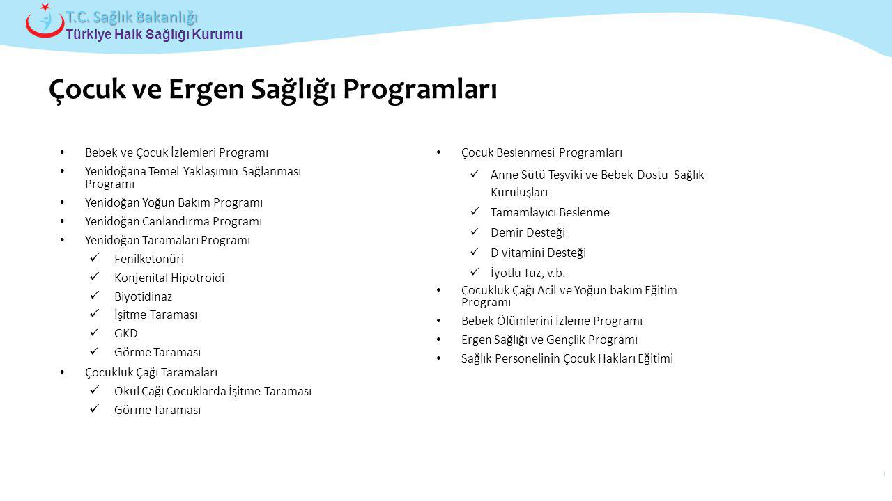 Çocuk ve Ergen Sağlığı Programları