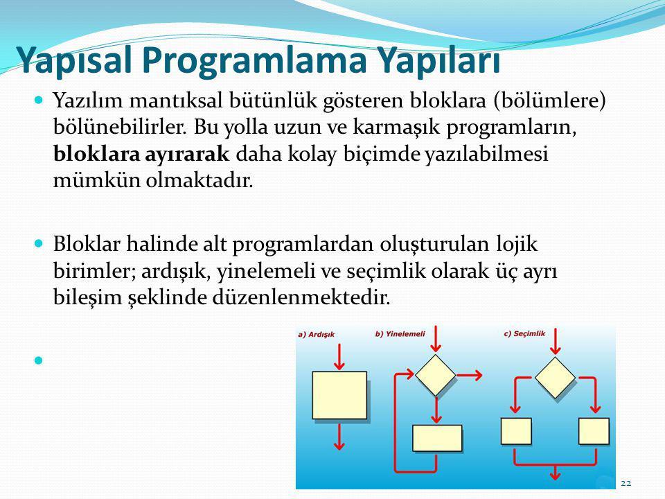 Yapısal Programlama Yapıları