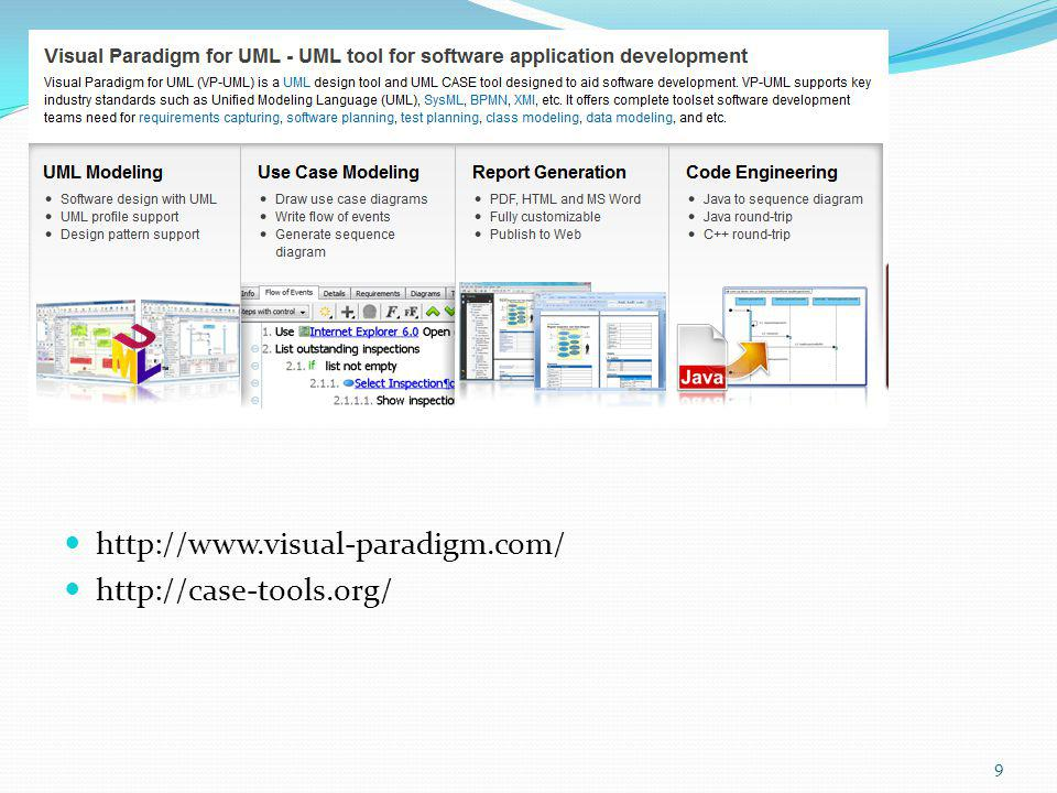 http://www.visual-paradigm.com/ http://case-tools.org/