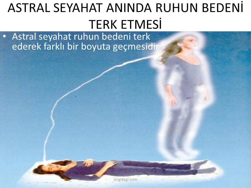 ASTRAL SEYAHAT ANINDA RUHUN BEDENİ TERK ETMESİ
