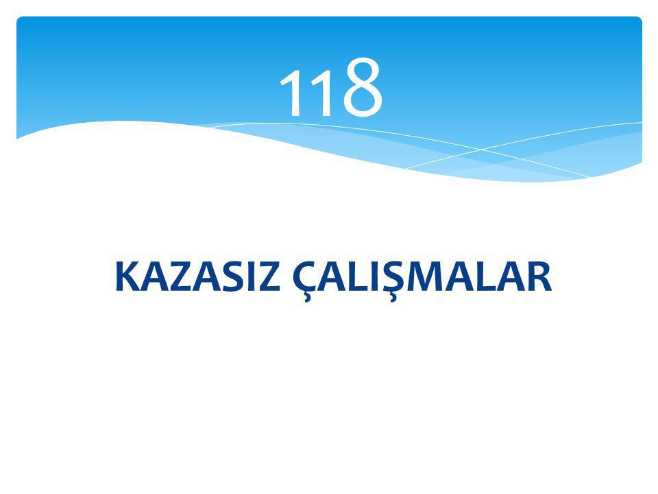 118 KAZASIZ ÇALIŞMALAR