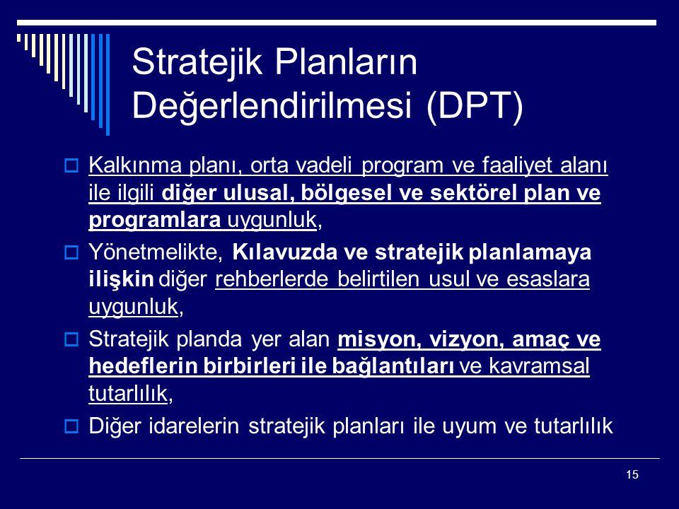 Stratejik Planların Değerlendirilmesi (DPT)
