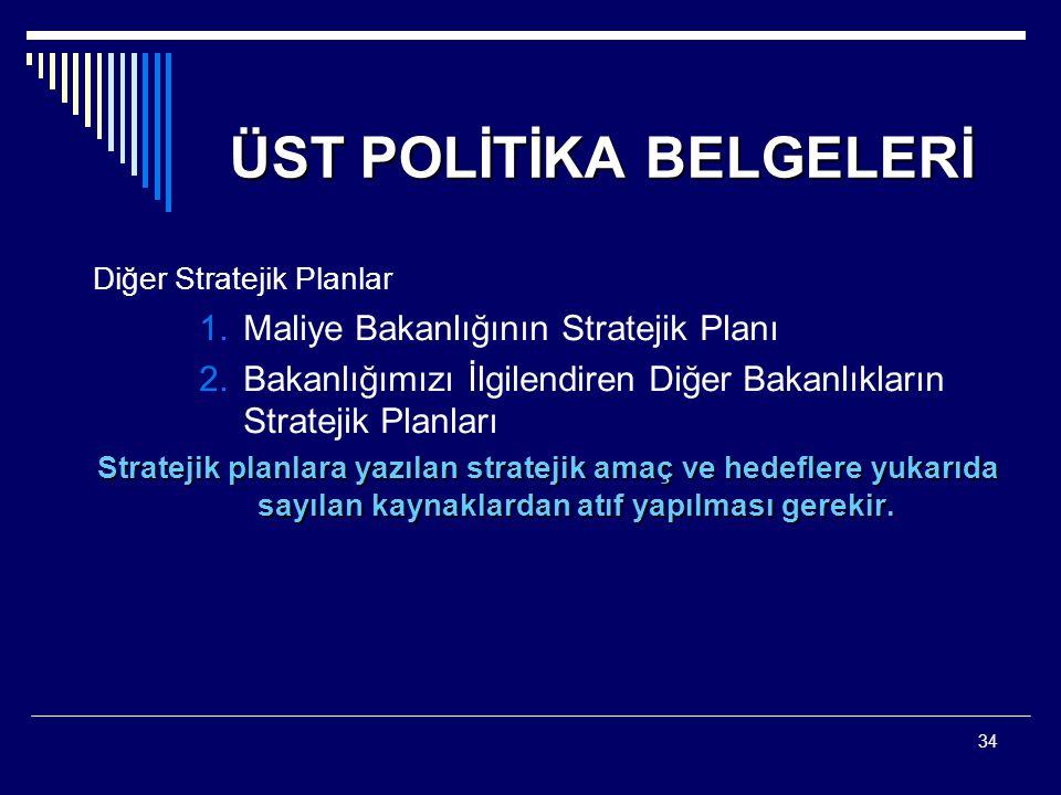 ÜST POLİTİKA BELGELERİ