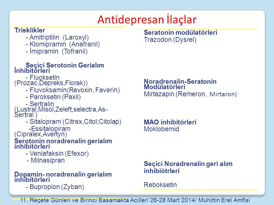 Antidepresan İlaçlar Trisklikler - Amitriptilin (Laroxyl)