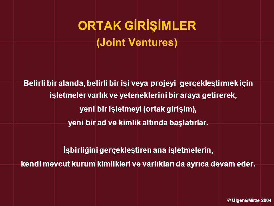 ORTAK GİRİŞİMLER (Joint Ventures)