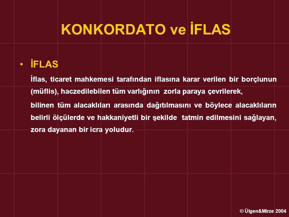 KONKORDATO ve İFLAS İFLAS
