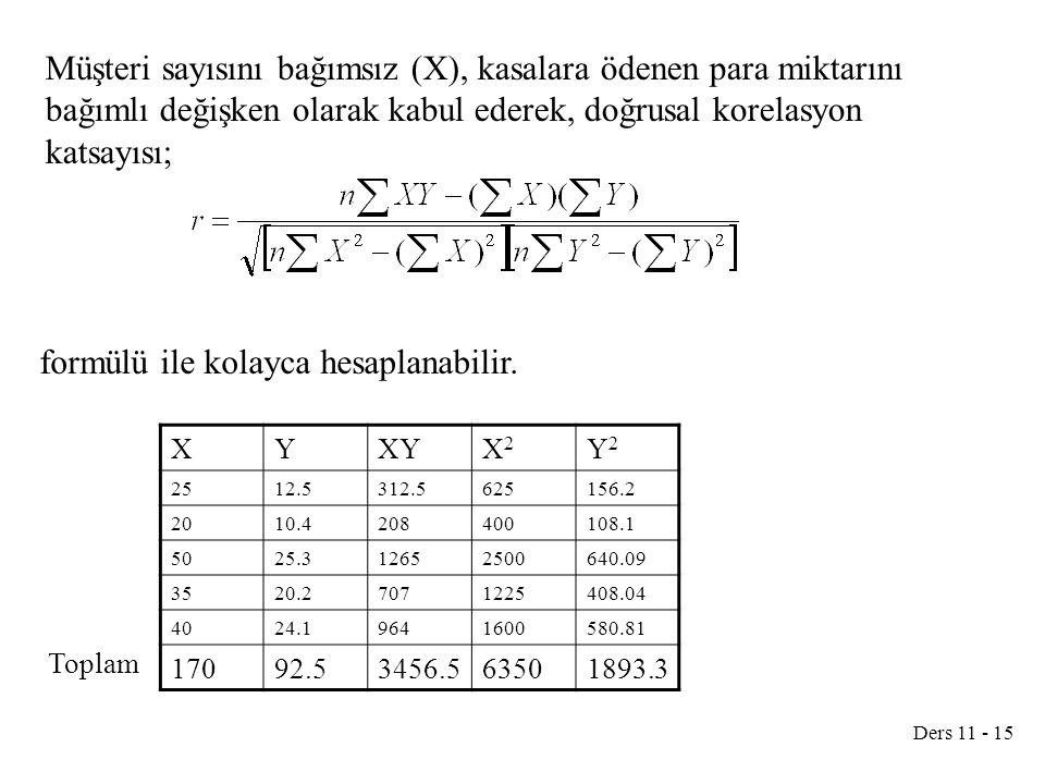 formülü ile kolayca hesaplanabilir.