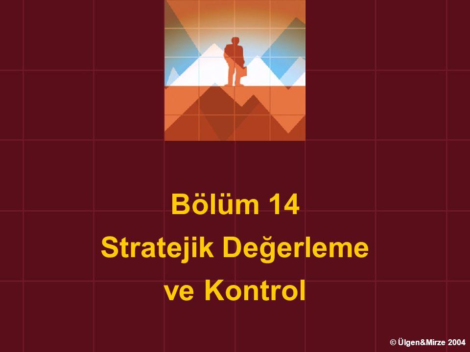 Bölüm 14 Stratejik Değerleme ve Kontrol