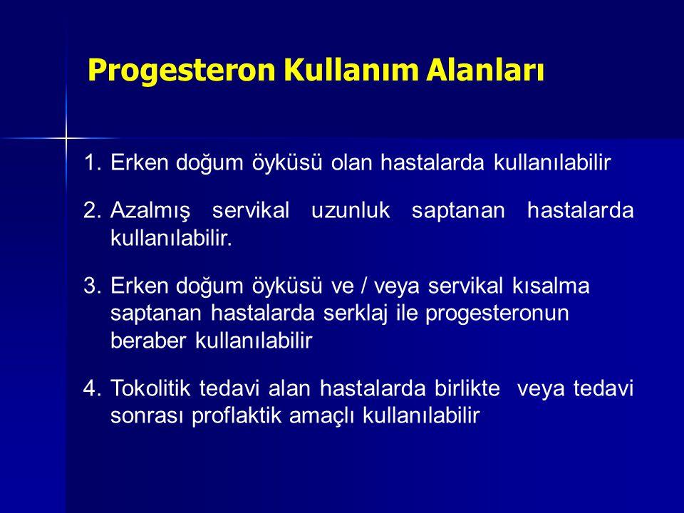 Progesteron Kullanım Alanları