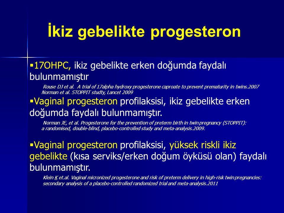 İkiz gebelikte progesteron
