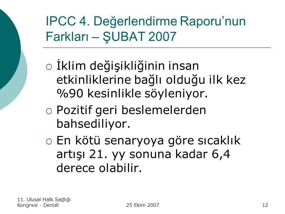 IPCC 4. Değerlendirme Raporu'nun Farkları – ŞUBAT 2007