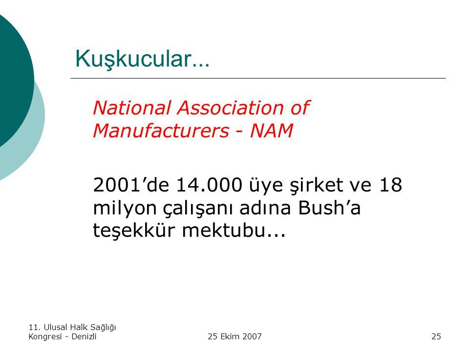 Kuşkucular... National Association of Manufacturers - NAM