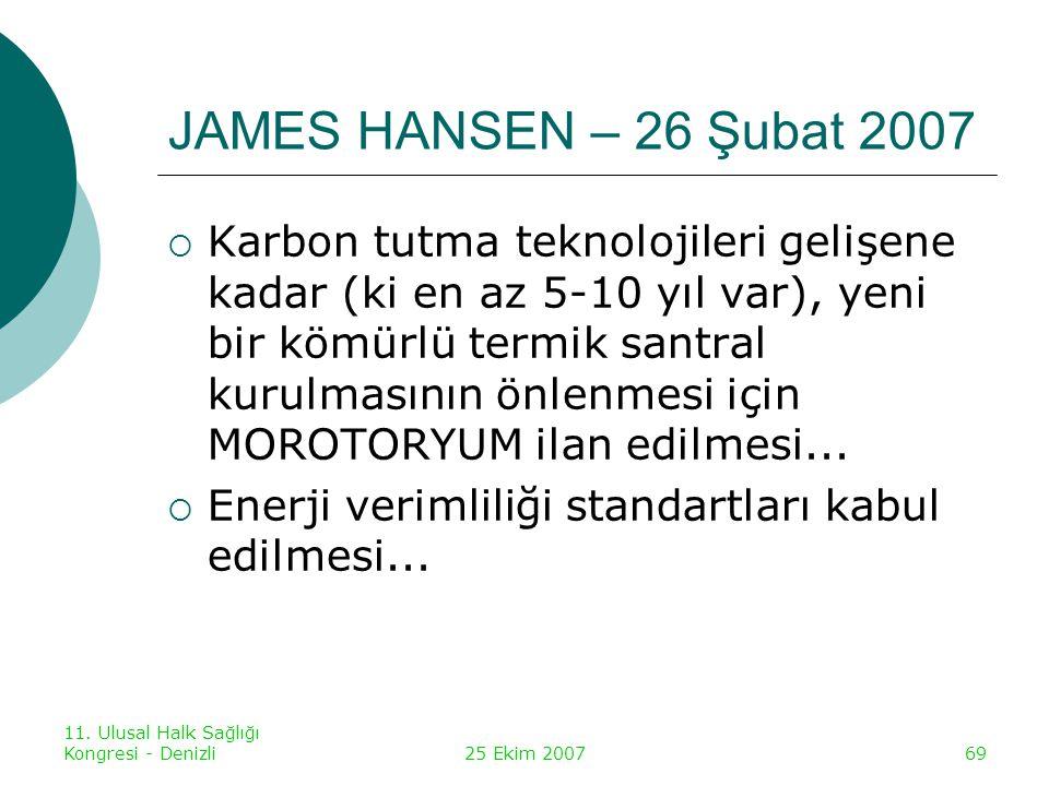 JAMES HANSEN – 26 Şubat 2007