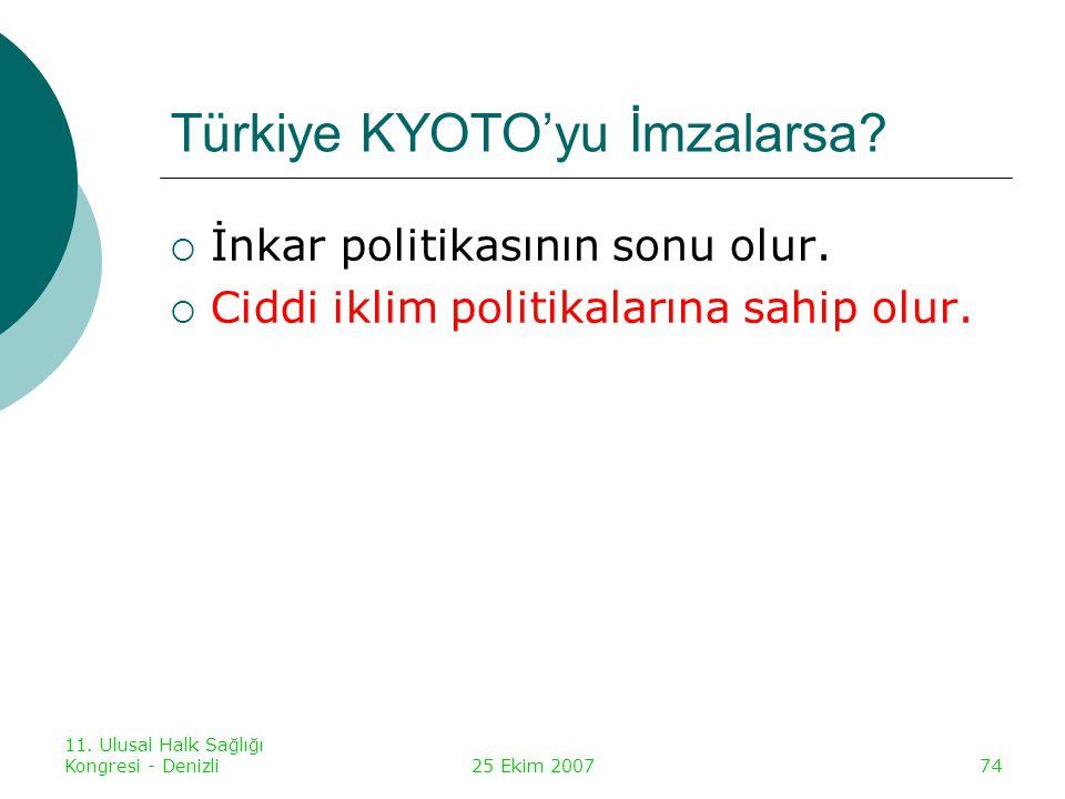 Türkiye KYOTO'yu İmzalarsa