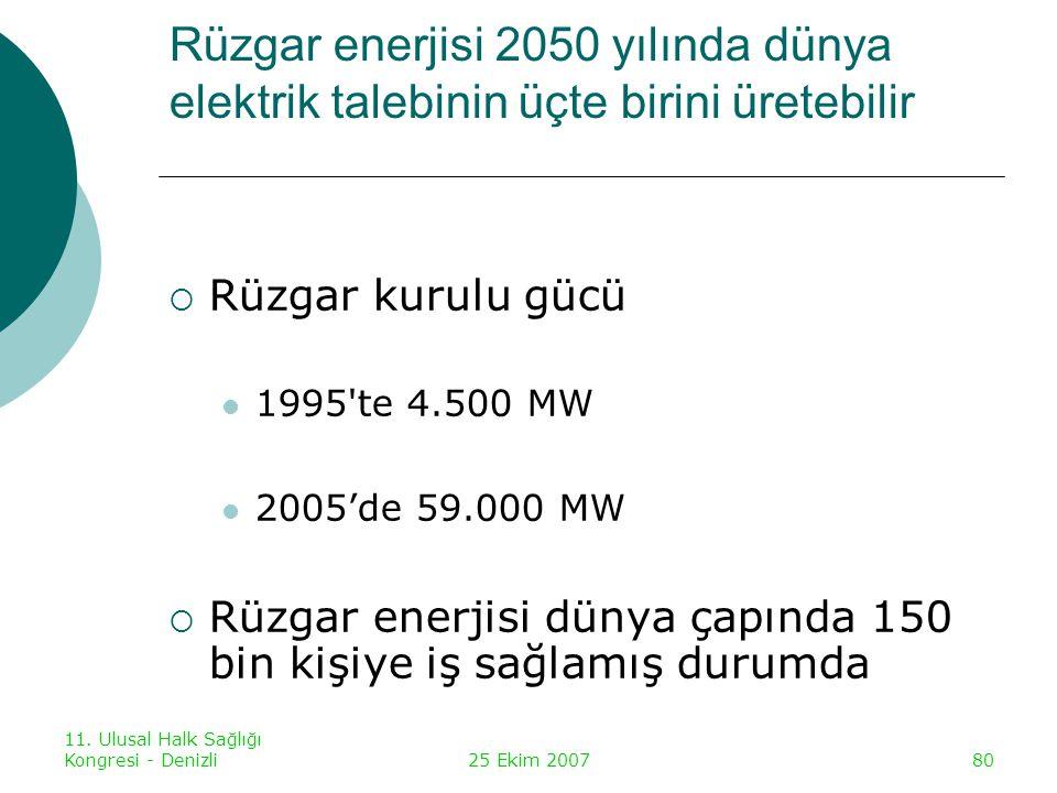 Rüzgar enerjisi 2050 yılında dünya elektrik talebinin üçte birini üretebilir