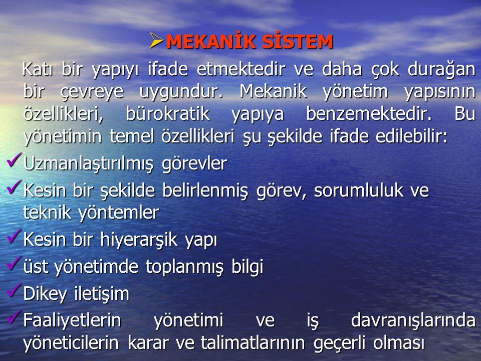 MEKANİK SİSTEM